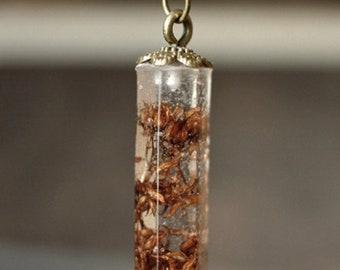 Dried Floral Shrub Pendant