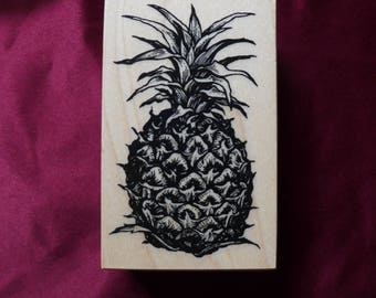 Vintage Pineapple Rubber Stamp