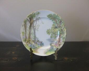 "Shelley Woodland Plate / Shelley Fine Bone China ""Woodland"" 8"" Plate / Woodland Scene Fine China Decorative Plate"