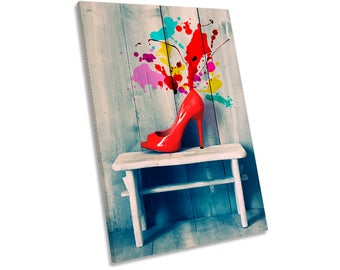 High Heels Shoes Fashion Framed CANVAS WALL ART Print Picture