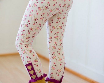 Sarah Ann's Cuff Leggings & Capris. PDF sewing pattern for girls sizes 2t - 12.