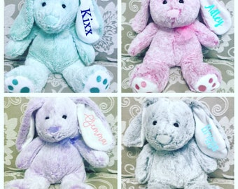 Personalized Easter Bunny Stuffed Animal Personalized Bunny Rabbit / Easter basket gift / Easter Bunny gift / Easter gift / Birthday gift