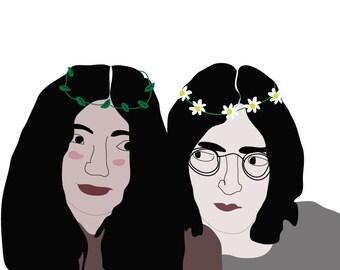 John & Yoko Digital Illustration