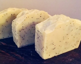 Lemon Poppy Seed Cold Process Soap
