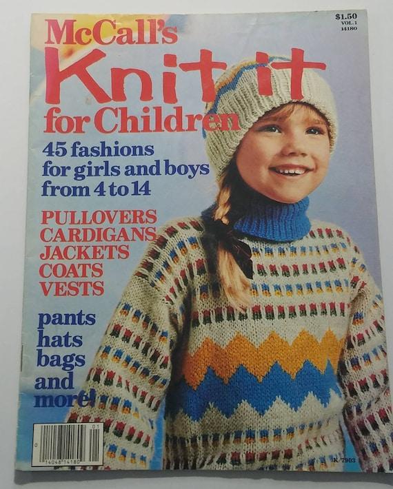 Vintage Mccalls Knit It For Children Knitting Pattern