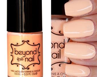 Electric Peach Nail Polish - Soft Neon UV Reactive