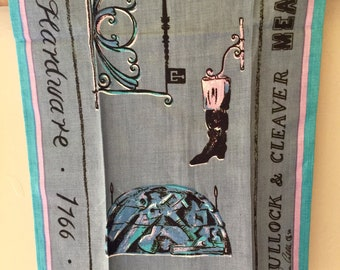 Vintage Townhouse All Linen Tea Towel by artist Melanie Hanna Cabble