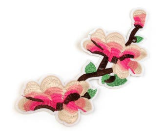 Patch cherry blossom of large 26, 5 x 11, 5 cm