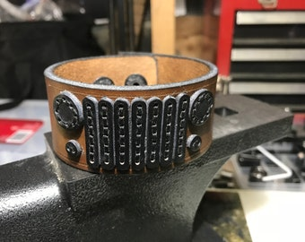 Mens Jeep Leather Cuff