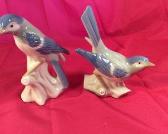 Porcelain Blue Birds-Vintage