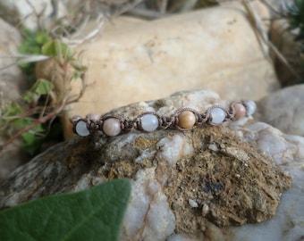 """Balance night"" Sunstone and Moonstone beads"