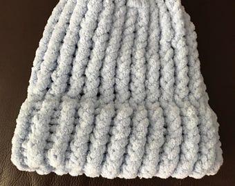 Baby blue newborn hat