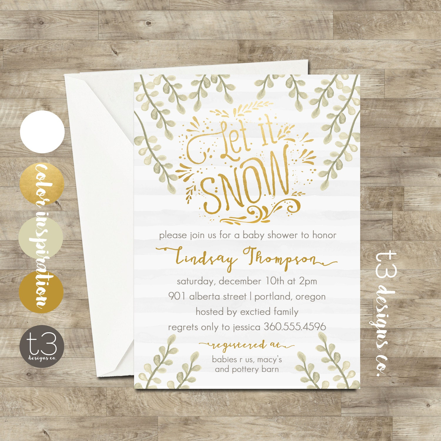 Winter Wonderland Invitation, Winter BABY SHOWER Invitation, winter ...