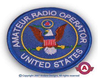 Amateur Radio Operator Embroidered Patch New USA made