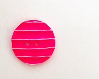 Jim Button Resinknopf Neon Pink