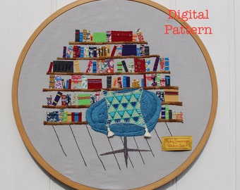 The Chair Quartet Digital Embroidery Pattern No. 4