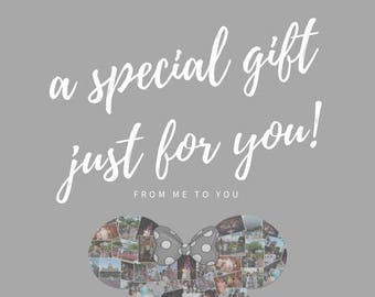 Gift Card Digital Photo Collage Wall Art Printable