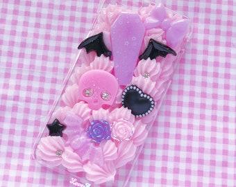 Bat Wing iphone 6 plus case, kawaii decoden case, creepy cute phone case, creepy cute decoden, coffin phone case, bat wings case