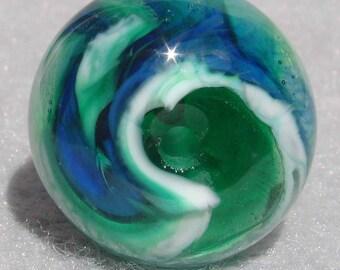 CYCLONE Handmade Lampwork Art Glass Focal Bead - Flaming Fools Lampwork Art Glass  sra