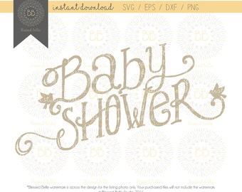 Baby Shower SVG, Baby Shower Birds Svg, Svg Eps, Dxf, Png File, Silhouette,  Cricut