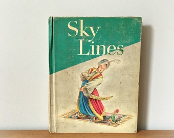 Vintage School Book Reading for Meaning Sky Lines Houghton Mifflin 1962