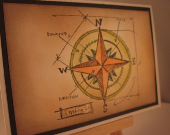 Compass Blueprint, card for any occasion