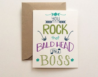 Rock that Bald Head Card