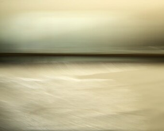 Deserted Storm Sea, horizon art, abstract art print, abstract canvas art, unique seascape, abstract photography, coastal art photo, giclee