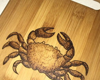Wood Burned Bamboo Kitchen Cutting Board