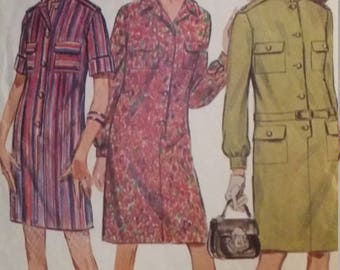 Vintage Simplicity Sewing Pattern Size 12 Bust 32 Step-In Dress in Two Lengths