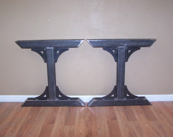 Industrial Factory Style Heavy Duty Steel Tube Legs Dining Table Pedestal  Base