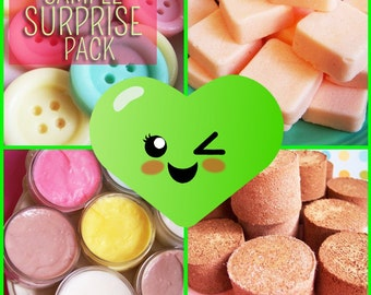 Sample Surprise Soap Pack - Mini Soaps, Party Favors, Tester, Sample Soap, Soap Pack, Small Soaps, Birthday Gift, Soap Set, Teen Gift, Fun