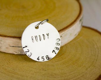 Hand-stamped Dog Tag // Dog Identification Tag // Hand-stamped Custom Pet I.D