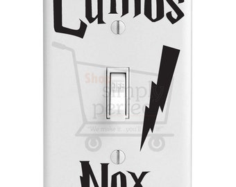 Harry Potter Light Switch Decals - Set of 2 -Lumos Nox by Shop Simply Perfect