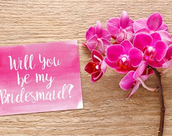 Will You Be My Bridesmaid Card, Bridesmaid Proposal, Bridesmaid Request, Maid of Honor, Flower Girl, Bridal Party Gift, Wedding Announcement