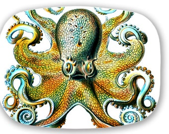 Octopus Blue Sea Monster Serving Platter Tray ThermoSaf Made in USA