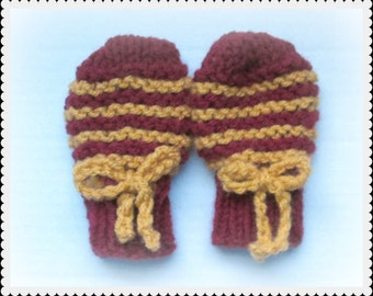Harry Potter Baby mitts, Gryffindor baby mittens