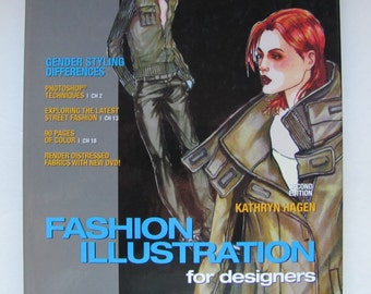 Fashion Illustration for Designers, Hagen, Fashion Drawing Book, How to Illustrate Mens and Womens Fashion, includes DVD tutorials