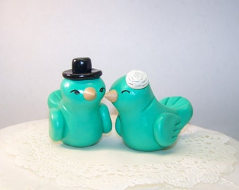 Wedding Birds Cake Topper High Fashion Decor - Colors of Choice