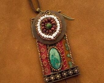 """Ethnic pendant necklace """"Dezba"""""""