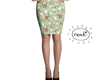 Goat Skirt Cute Goat Skirt Goat Miniskirt Goat Pattern Skirt Goat Skirt for Women Goat Gifts for Her Goat Clothes for Women