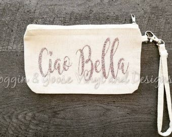 Custom Canvas Wristlet
