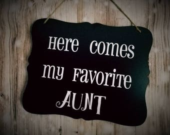 Here Comes My Favorite Personalized Wedding Sign - Flower Girl Sign - Ring Bearer Sign - Ring Bearer - Wedding Decor - Photo Prop