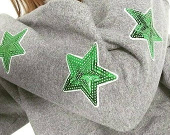 Adult 6 star sleeve detail sweatshirt