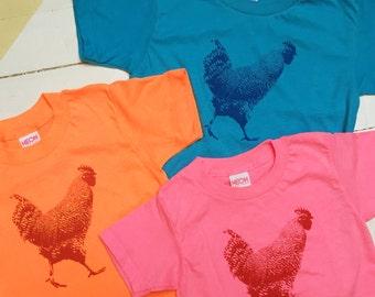 Chicken T-shirt - Toddlers & Little Kids   - American Apparel Tee- Urban Chicken shirt - Child Boy Girl