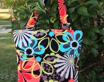 Insulated Lunch Bag, Flowers, Tote Bag, Gifts