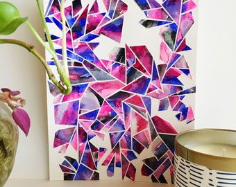 "Electrokinesis - 9x7"" Collage"