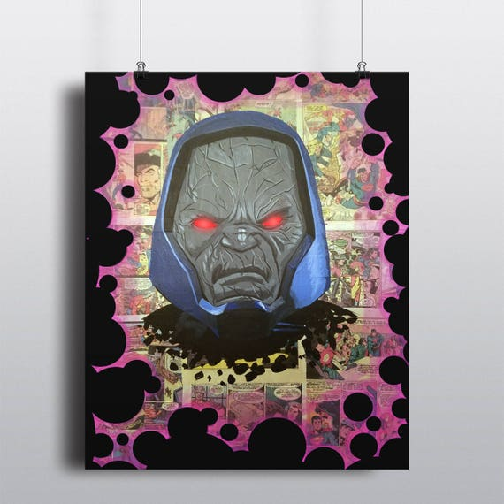 DC Comics Darkseid Superman Batman Justice League Villain Fine Art Painting