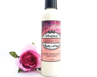 Lavender Rose Body Lotion- organic Lotion for dry skin