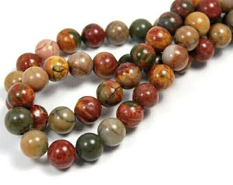 Multi Color Picasso Jasper 6 MM Gemstone Beads//Loose Gemstone Beads//Wholesale Bead Full Strand 40 CM In Length